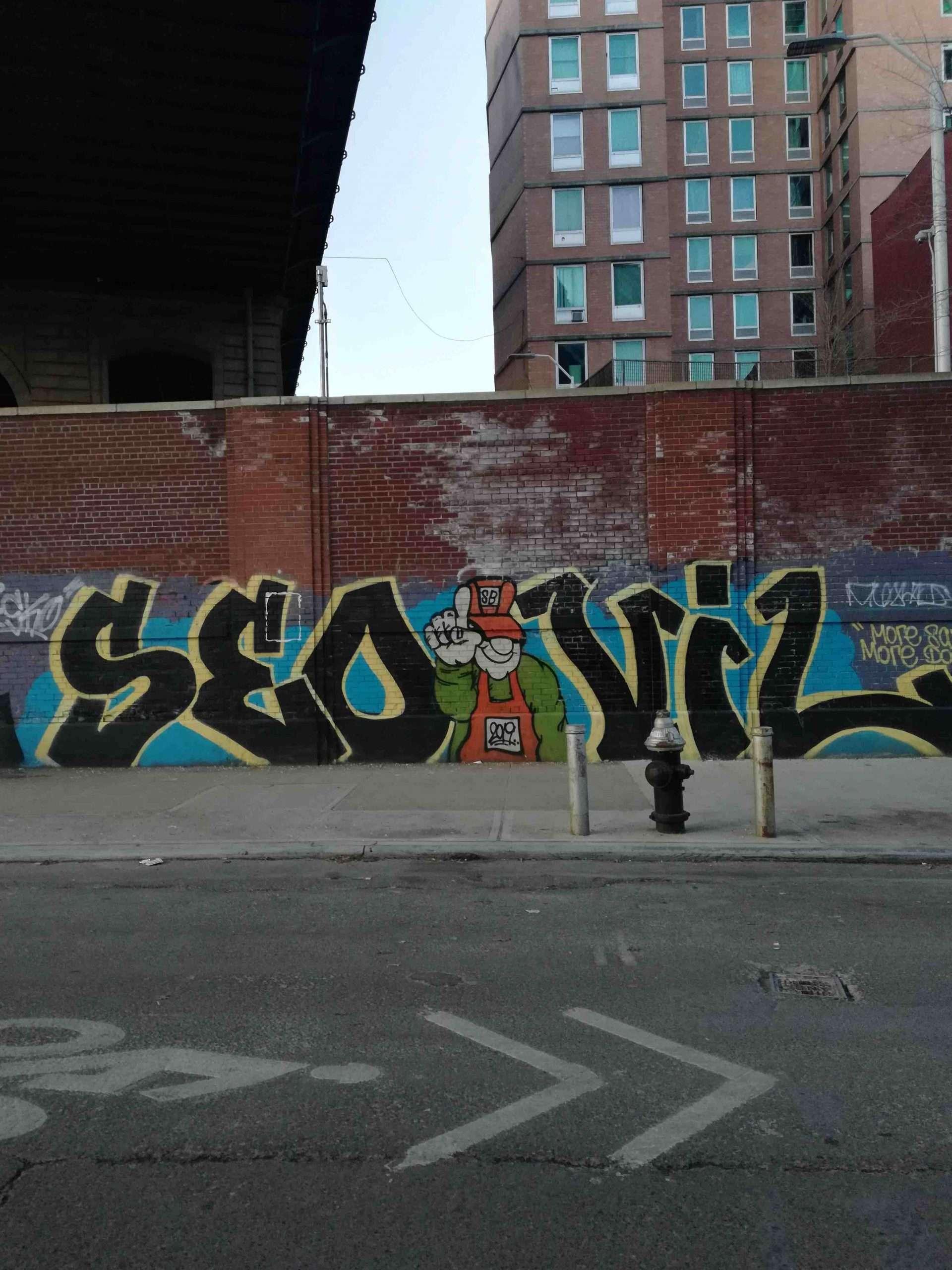 NYC Moments Wall Graffiti Mural LES