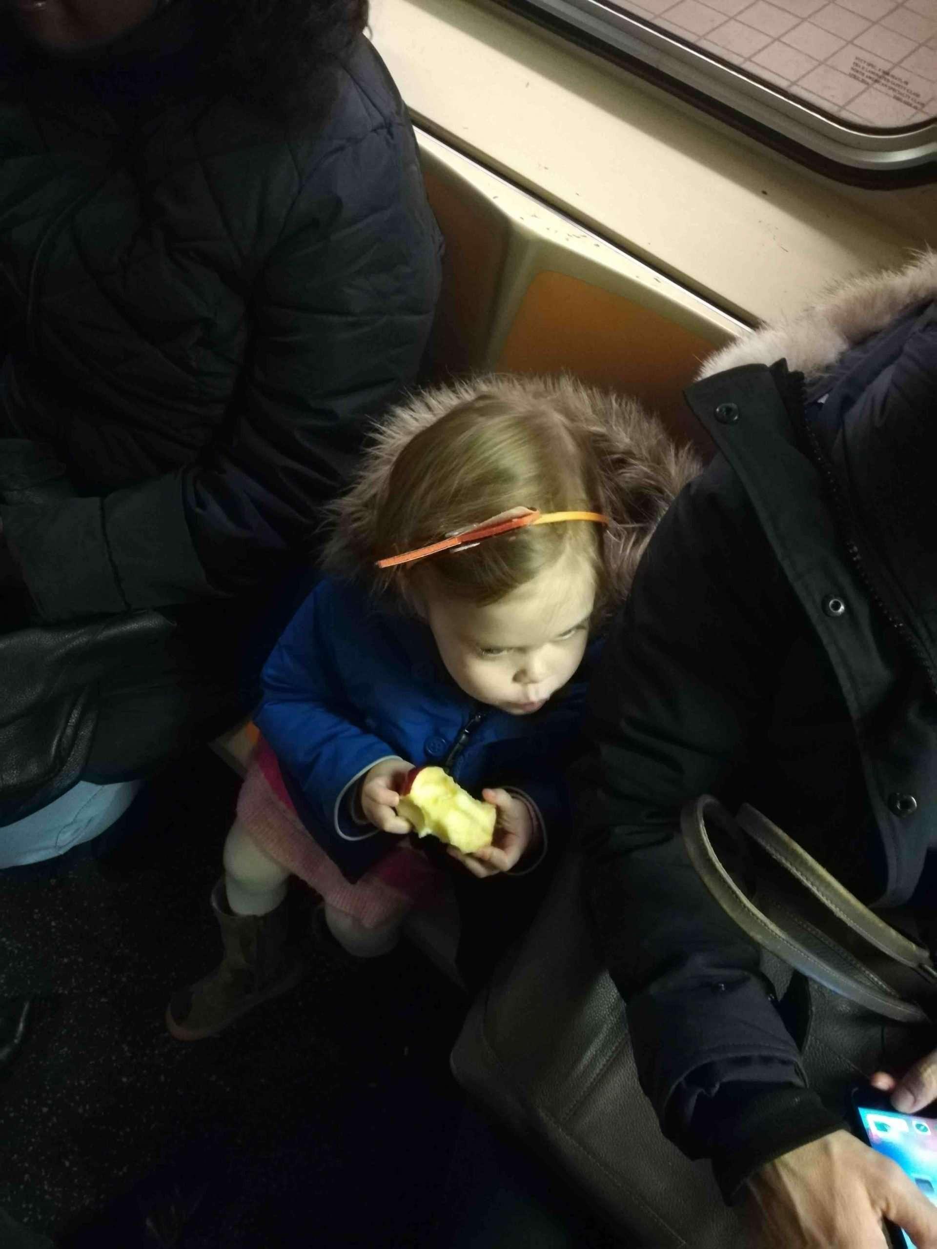 NYC MTA passenger girl