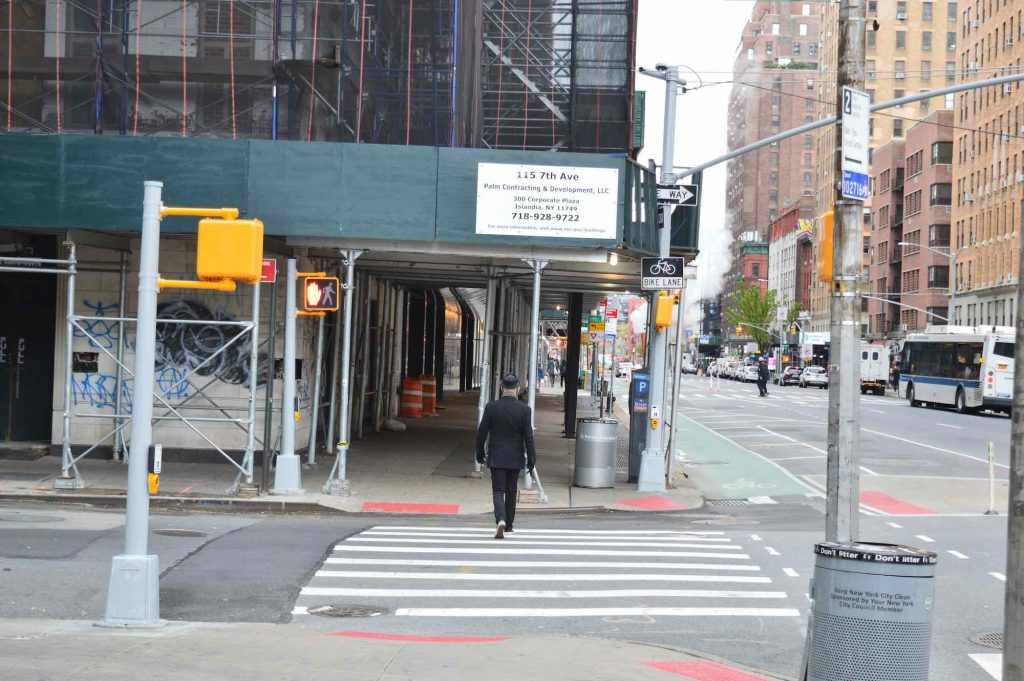 NYC Moments man in black hat in Chelsea
