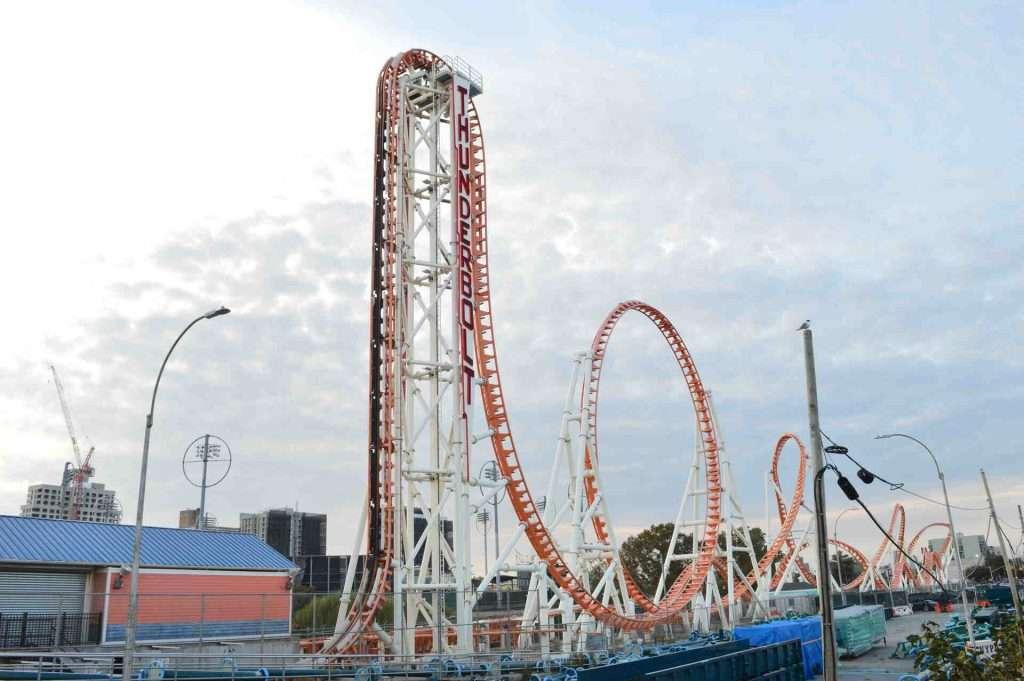 Coney Island Thunderbolt roller coaster