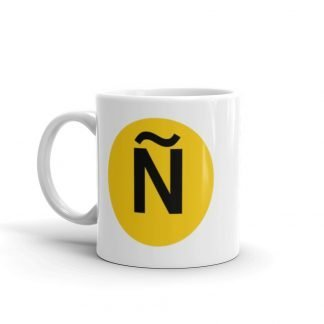Ñ Subway Train to Latin America Coffee Mug