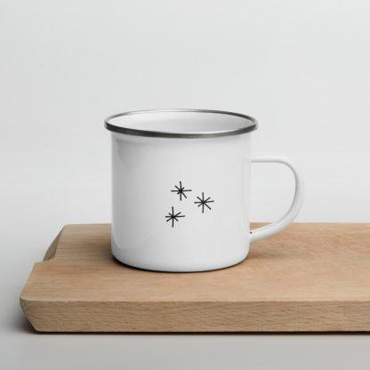 Happy Santa Xmas Coffee Enamel Mug Starts side