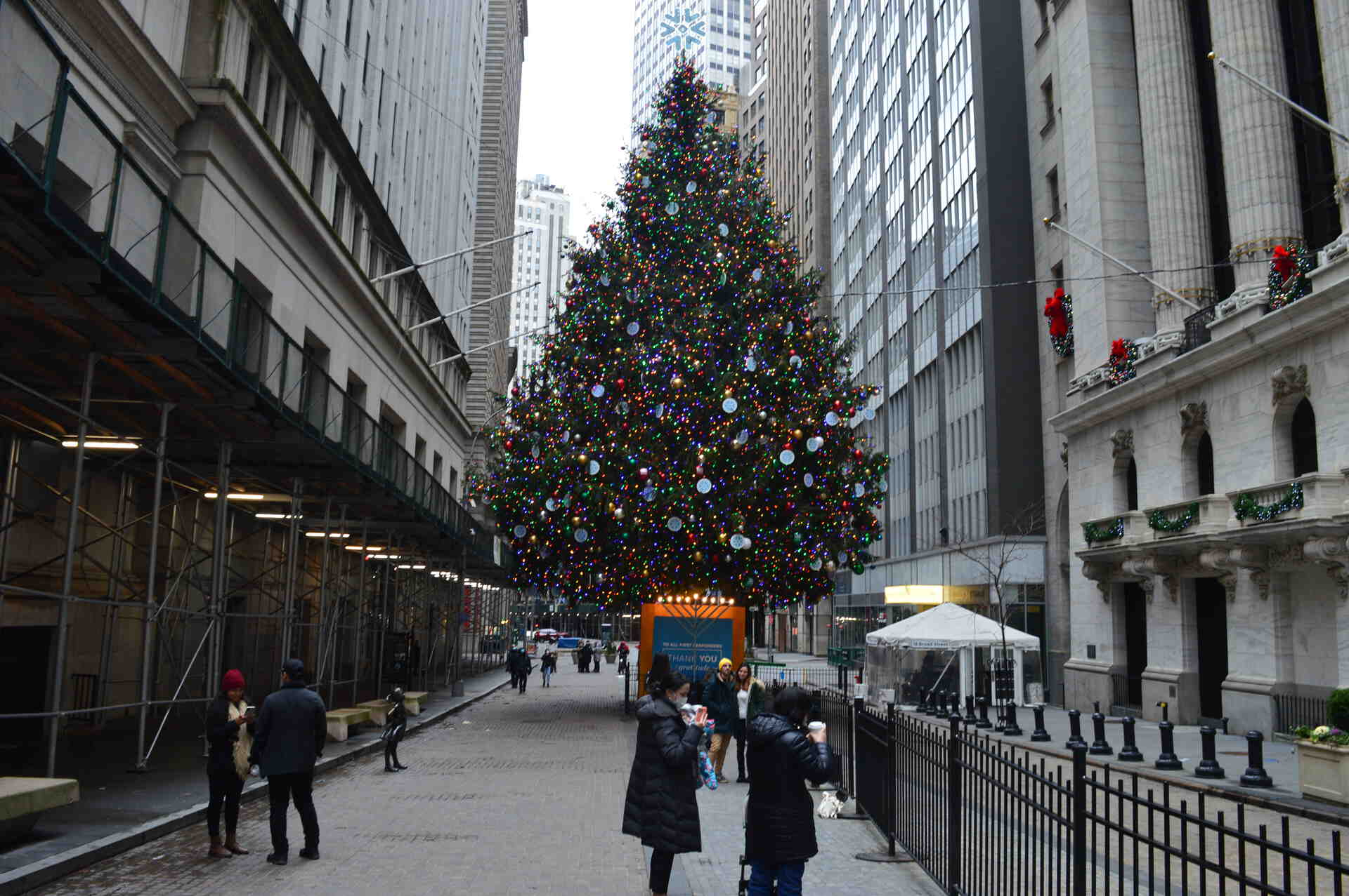 NYC Moments Wall Street Xmas Tree