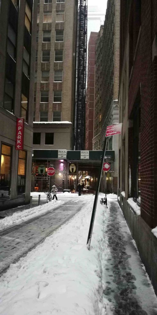 NYC Fidi during snow storm