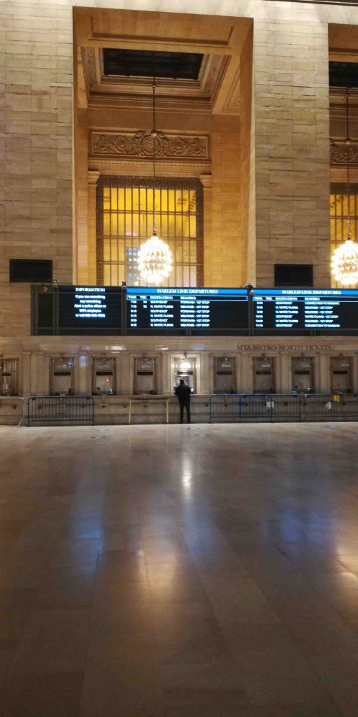 NYC Grand Centra Station during snow storm 2021