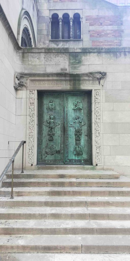 Church doors by Grand Central
